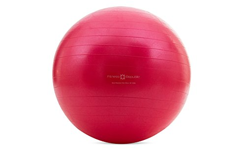 Fitness Republic 65cm Stability Ball Red with Pump (Exercise Ball / Gym Ball)