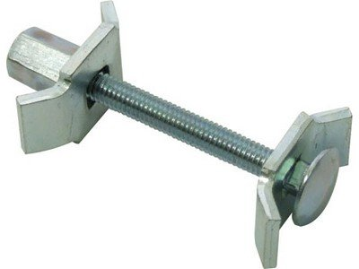 x5 Zinc Plated Worktop Connecting Bolt / Clamps 150mm x 6mm, LDWTC