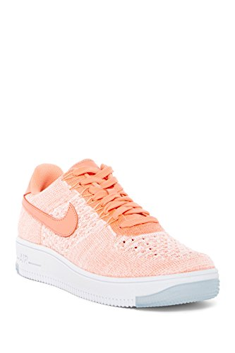 Nike Womens Af1 Flyknit Scarpe Basse Casual Rosa Atomico