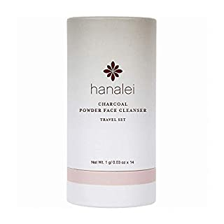 Powder Face Cleanser by Hanalei (Cruelty free, Paraben free) (Charcoal Travel Set (14 packets x 1g))