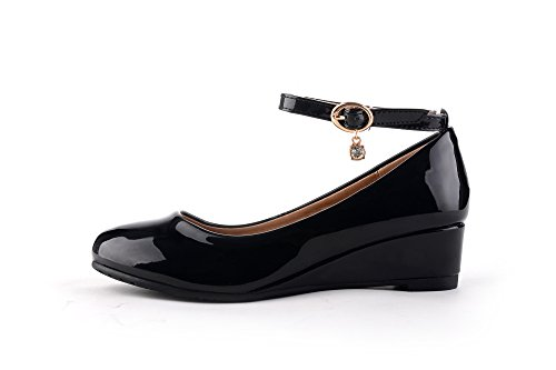 Pictures of Mila Girls Litte Girls Low Wedges Pumps Black 13 M US 4