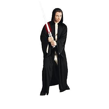 Lucas - ST-16222 - Disfraz con capucha para adultos - vestido de Jedi - negro - Un tamaño