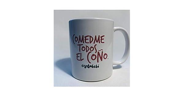 MueveTuLengua Taza @srtabebi Comedme Todos el coño: Amazon ...