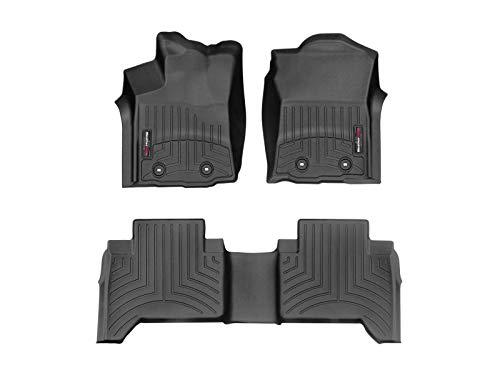 WeatherTech Custom Fit FloorLiner for Toyota Tacoma - 1st & 2nd Row (Black) (Custom Tacoma)