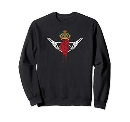 - Gothic Horror inspired Claddagh sweatshirt