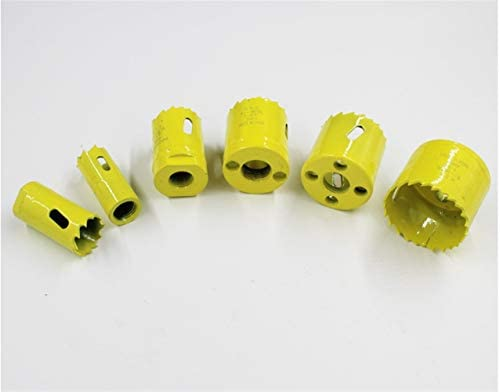 13pcs Metal Hole Opener Set Opening for Gypsum Board Downlight Pipe Carpentry Durable and High Abrasion High Drilling Accuracy (Size : Yellow)