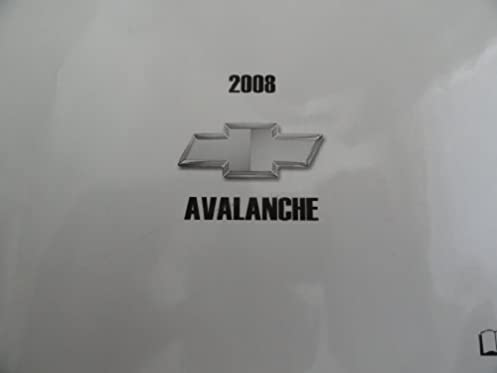 2008 chevy chevrolet avalanche owners manual chevrolet amazon com rh amazon com 2008 chevy avalanche ltz owners manual 2008 avalanche service manual