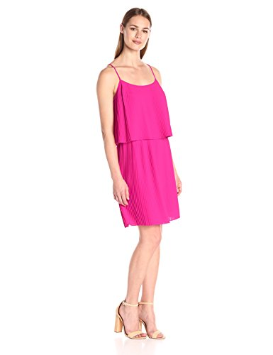 Pleated Vince Dress (Vince Camuto Women's Pleated Popover Tank Dress, Pop Pink, Medium)