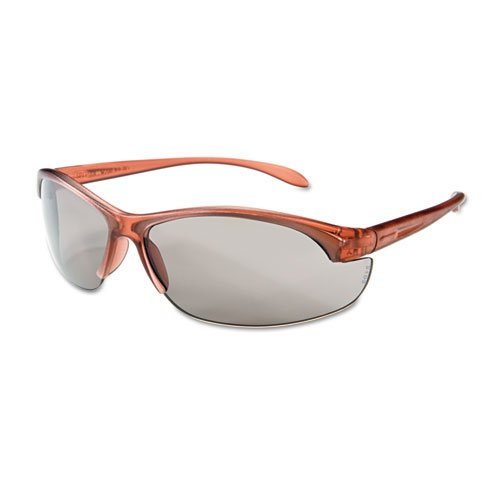Women's Eyewear, Dusty Rose Frame, TSR-Gray Anti-Scratch Lens, One Size, 10/Box, Sold as 10 Each