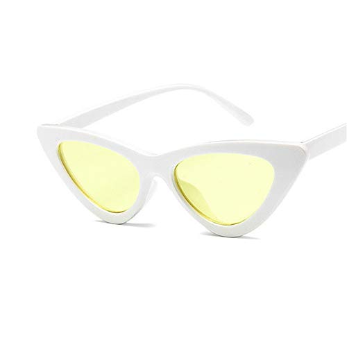 KOKMO-TYJ Retro Polarized Sunglasses for Classic Trendy Stylish Sunglasses for Men Women 1178% UV Protection,Solid White Yellow