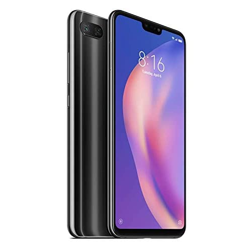 "Xiaomi Mi 8 Lite (64GB, 4GB RAM) 6.26"" Full Screen Display, Snapdragon 660, Dual AI Camera's, Factory Unlocked Phone - International Global 4G LTE Version (Black)"