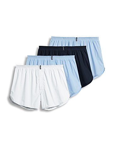 Jockey Men's Underwear Tapered Boxer - 4 Pack, ICY Blue, M