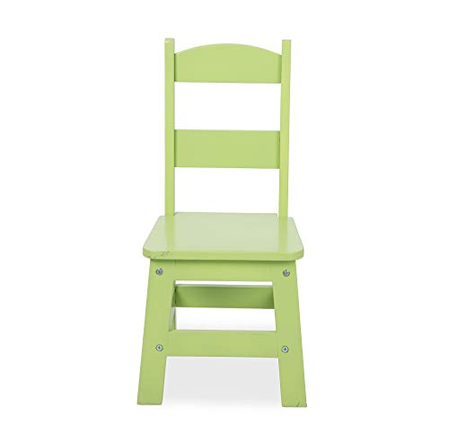 "Melissa & Doug Kids Furniture, Wooden Table & 4 Chairs (White Table, Pastel Pink, Yellow, Green, Blue Chairs, 20.5"" H x 23.5"" W x 20"" L)"