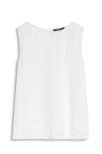 ESPRIT Collection 057eo1f004, Blusa para Mujer Blanco (Off White)