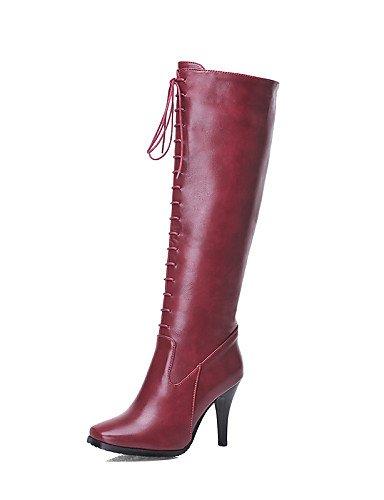 Casual Botas Black Xzz 5 Trabajo Cerrada De Cn37 5 5 us6 Cuadrada 7 Sintético Eu37 Stiletto Cuero Oficina Vestido Tacón Mujer Zapatos Punta Uk4 Y w8awAO