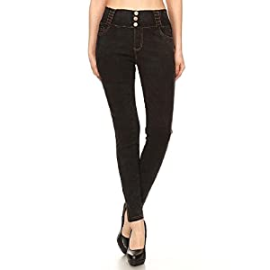 Women's Plus Size High Waisted Stretchy Pull-On Skinny Denim Jegging & Bermuda Shorts