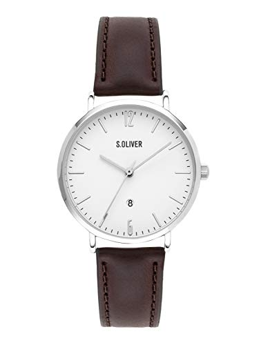 s.Oliver Time Womens Analogue Quartz Watch with Leather Strap SO-3601-LQ