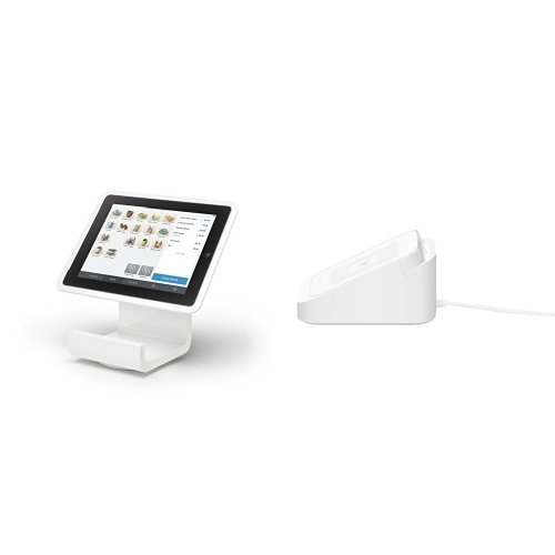 Square Stand for iPad 4 with Lightning Connector and A-SKU-0120 Dock for Reader bundle (Ipad Square Register compare prices)