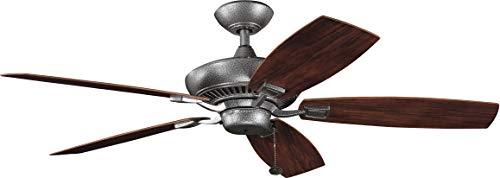 (Kichler 310192WSP 52-Inch Canfield Patio Fan, Weathered Steel Powder Coat)