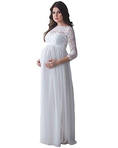Tianshikeer Mutterschaft Hochzeitskleider Mit Lange Armel Spitze
