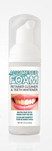 - Alightener Foam - Whiten your teeth while wearing a mouth tray or a clear dental aligners [ Invisalign (TM) type retainer ] - Mouth Trays Included