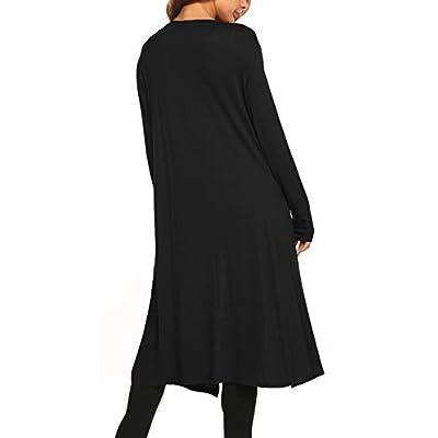 Bluetime Women Plus Size Long Open Front Drape Maxi Cardigan Lightweight Duster Long Sleeve Cardigan Fall (S-4XL) at Women's Clothing store