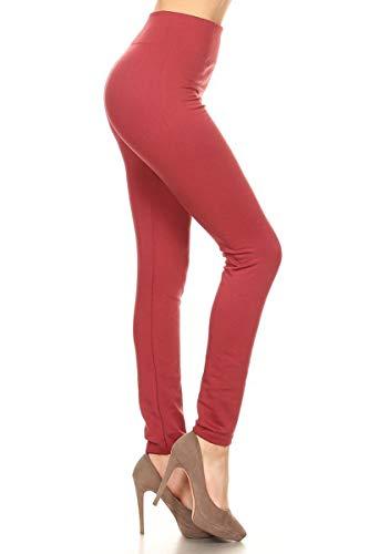 Leggings Depot Women's Popular REG/Plus Premium Warm Fleece Lined Leggings Tights Pants (One Size (Size 0-12), Mauve)