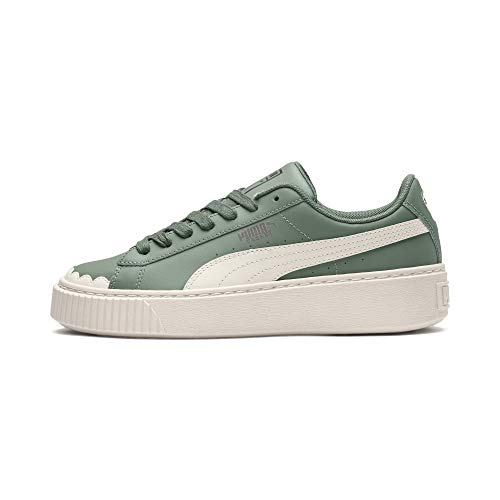 Basket Bianco Verde Wn's Sneakers Verde Platform Scallop 366723 36 Puma 01 1wxARqnUCw