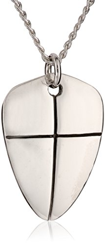 "Bob Siemon Sterling Silver Reversible ""Shield of Faith"" Pendant Necklace, 18"""