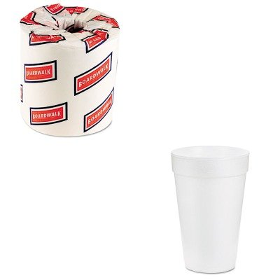 KITBWK6180DRC14J16 - Value Kit - Dart Drink Foam Drink (DRC14J16) and White 2-Ply Toilet Tissue, 4.5quot; x 3quot; Sheet Size (BWK6180) (Toilet Paper Foam)