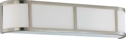 (Nuvo Lighting 60/2873 Three Light Wall Sconce Vanity, Brushed Nickel)