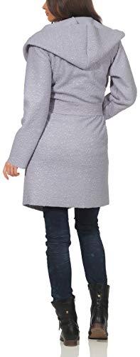 Chaqueta Capucha Mujer Plateado azul Abrigo 9320 Boucle Vellón Malito Trenchcoat Lana fxHqA771w