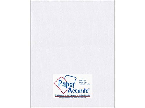 Accent Design Paper Accents ADP8511-25.8814 Pearlized 8.5x11 Bright White Paper Pearlized 8.5x11 80# Bright White - Pearlized Accent