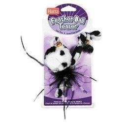 Hartz Feather Ball Teaser Cat Toy 1CT (Pack of 18)