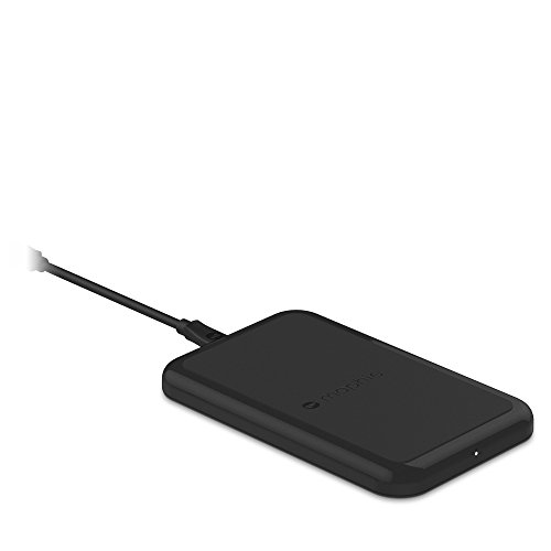 mophie Charge Force Wireless Charge Pad - Compatible with Qi Wireless Charging Apple iPhone X, iPhone 8, iPhone 8 Plus, Samsung and Qi Enabled Smartphones - Black (Renewed)