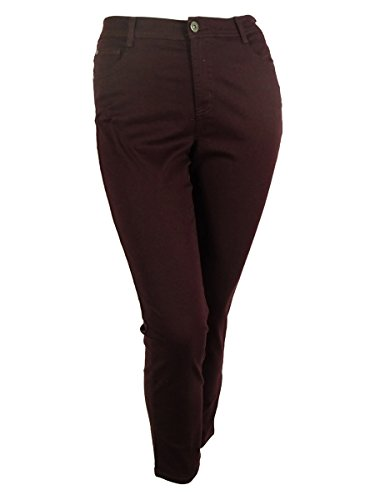 Style & Co. Womens Plus Denim High Waist Slim Jeans Purple ()