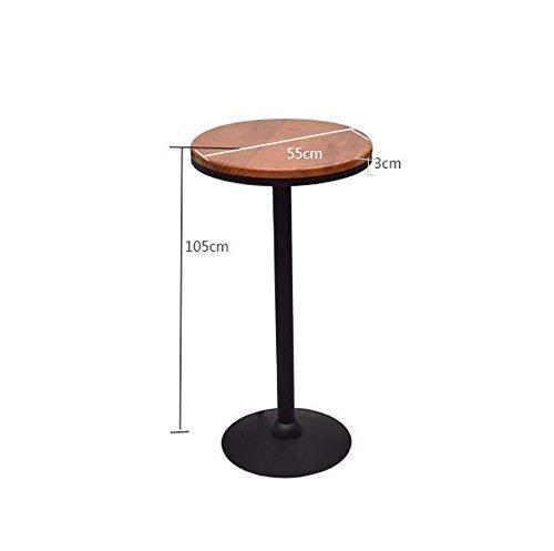5555105cm BB SFY Home Chair, Vintage Wrought Iron Stool, Bar Restaurant Ktv Solid Wood High Table, Backrest High Chair