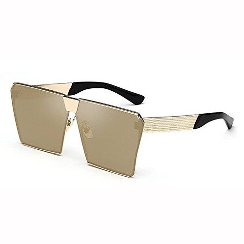 1 Gafas Protección Gafas Cuadrado Street 4 Cara Color Polarizada WX Beat Personalizadas De xin Color Sol Hembra UV Redonda Marco Z6xUzqx
