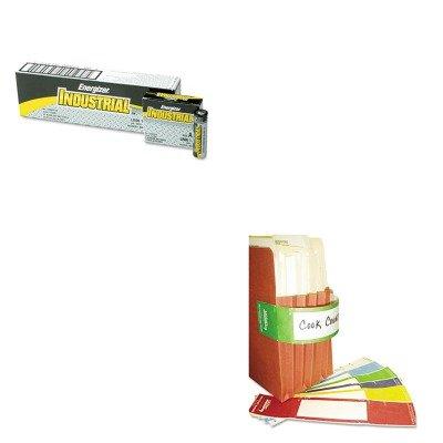 KITEVEEN91TAB68809 - Value Kit - Tabbies File Pocket Handles (TAB68809) and Energizer Industrial Alkaline Batteries (EVEEN91) by Tabbies