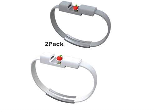 YOUBO 2 Unids Pulsera Cargador USB Cable de Datos de Carga para el iPhone x 8 7 6 s más 5 5S (Negro)