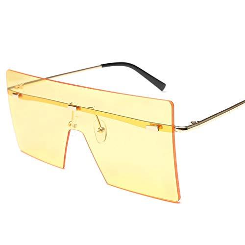 de taille lunettes soleil à Yellow de lunettes NIFG grande mode Lady soleil de la SYYTEq