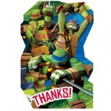 Ninja Turtles Postcard Thank You Cards (8 Pack) - Party Supplies