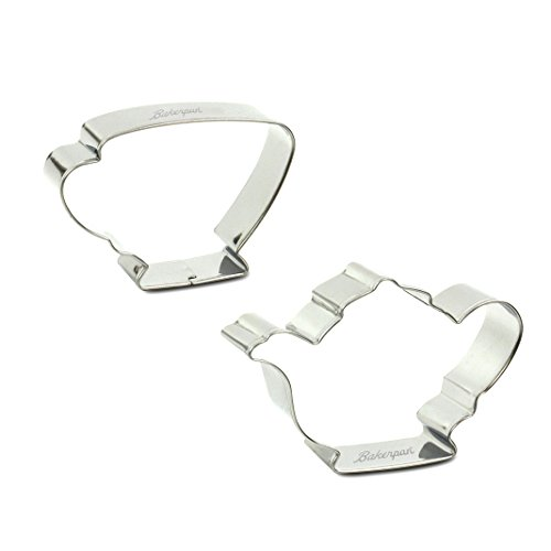 Bakerpan Stainless Steel Cookie Cutter Tea Pot & Cup (BAG) (Cookie Cup)