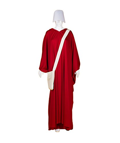 Women's Red Robe Handmaid Costume with Bag and