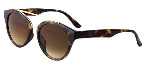 DM Merchandising Inc. Optimum Optical Women's Brow bar Sunglasses, Annabel (Tortoise) ()