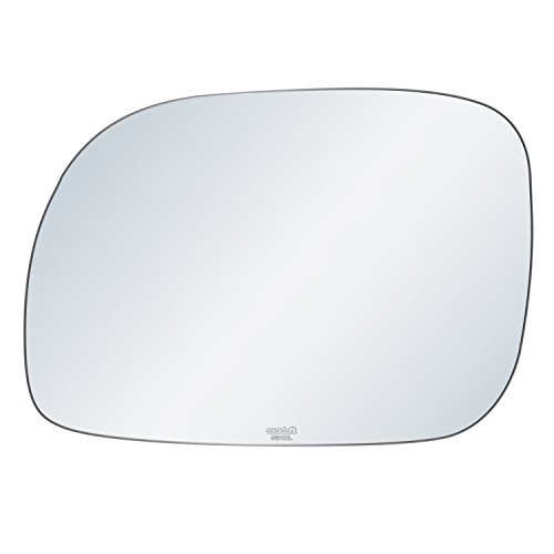 Plymouth Voyager Left Driver (exactafit 8340L Replacement Driver's Left Side Mirror Glass Flat Lens fits Grand Voyager Caravan Town & Country by Rugged TUFF)