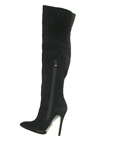 The Heel Suede 12 Women's M Black US PU 11 Highest Fierce Boot 5RqqOf