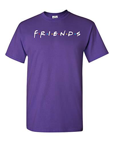 Uzair Friends TV Show T-Shirts (Purple, XL)