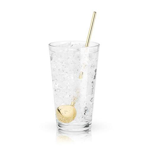 Viski 5779 Belmont Julep Spoon Straws, Gold