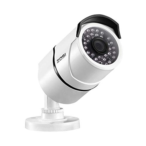 ZOSI 1080P 2.0MP POE Security IP Camera Waterproof Bullet Camera with 100ft Night Vision for Outdoor Indoor Power Over Ethernet Surveillance CCTV System